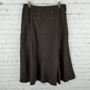 PICADILLY   maxi western stretch swing skirt
